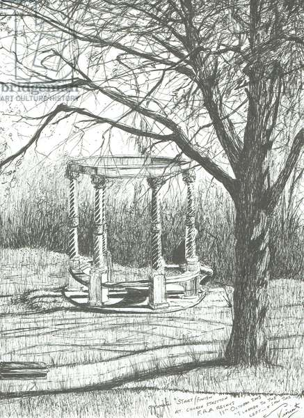 Church Stretton, after the Fell relays, 2003 (ink on paper)