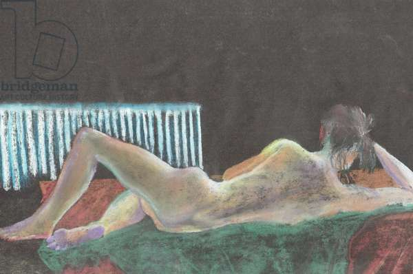 Model 2, 1996, (pastels on paper)