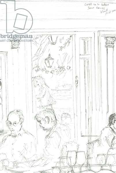 St Emilion Restaurant, 2015, (ink on paper)