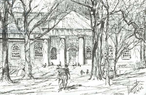 Harvard Boston USA, 2003, (ink on paper)