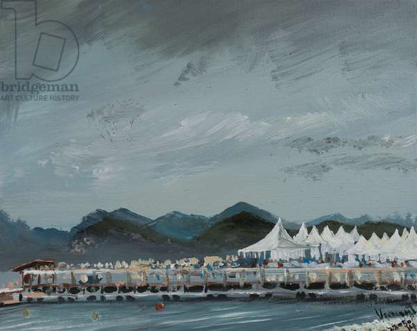 Cannes Film Festival tents 2014, 2914, (acrylic on canvas board)