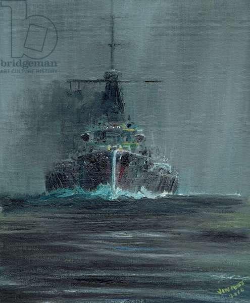 Dreadnought 1907, 2016, (oil on canvas board)