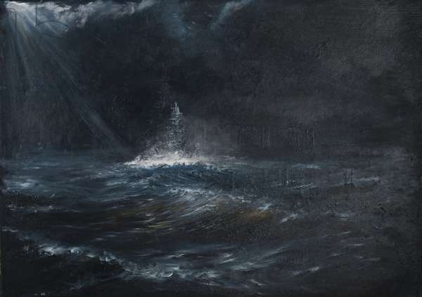 HMS Duke of York 1943, 2014, (oil on canvas)
