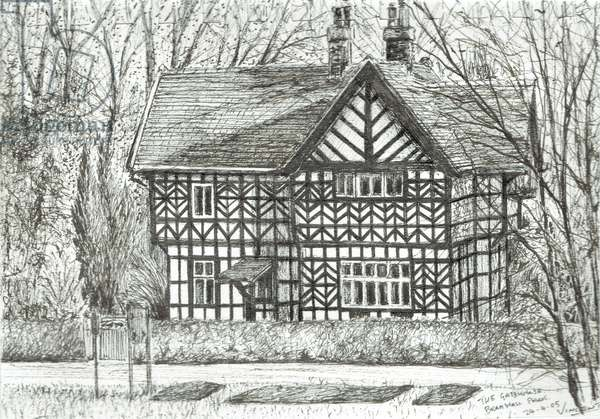 The Gatehouse at Bramhall Park, 2007, (ink on paper)