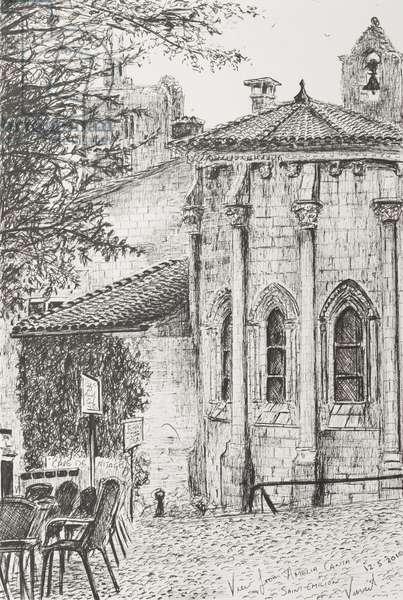 Saint Emilion France, 2010,  ( ink on Paper)