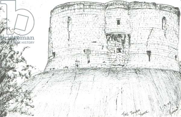 The Tower, York, 2003, (ink on paper)