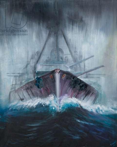 Battlecruiser Derfflinger 1918, 2016, (oil on canvas)