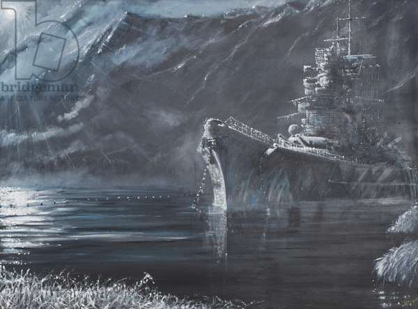 Tirpitz The Lone Queen Of The North 1944, 2007, (oil on canvas)