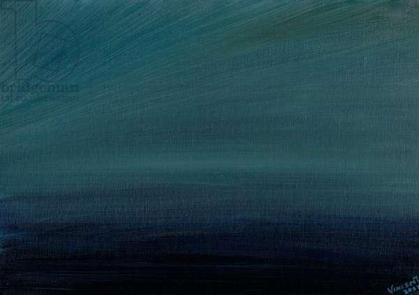Ocean Twilight, 2017, (oil on canvas board)