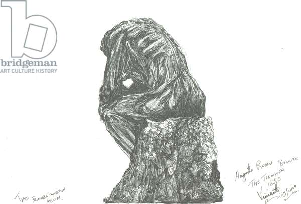 The Thinker, Burrell Foundation, 2007, (ink on paper)