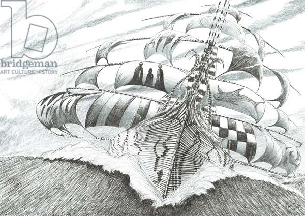 Storm Creators Weddell Sea, 2019 (ink and pencil on paper)