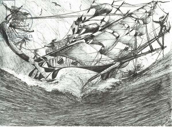 Storm Creators Arctic Ocean, 2017, (ink and pencil on Paper )