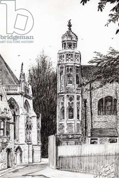 Trinity Street Cambridge, 2008, (ink on paper)