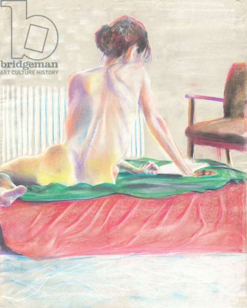 The letter, 1997, (pastels on paper)