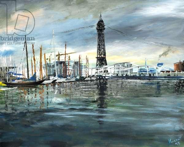 Barcelona boats, 1995, (acrylic on canvas board)