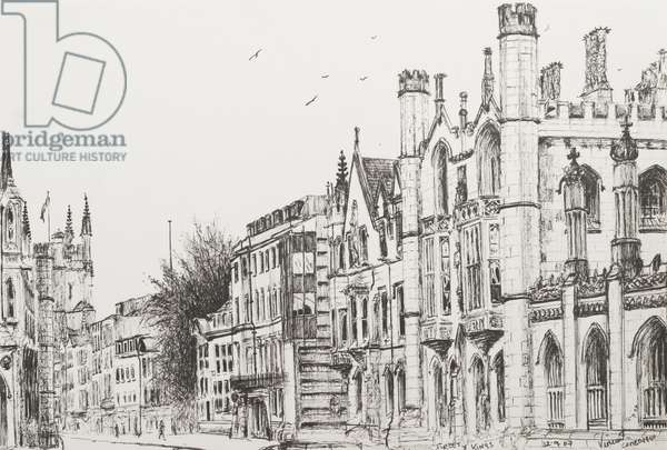 Kings College, Cambridge, 2007,  (ink on Paper)