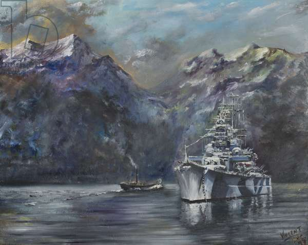 Tirpitz, Norway, 1995,  (Oil on canvas board)
