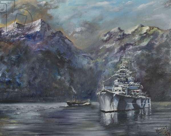 Tirpitz, Norway, 1995,  (Oil on canvas board)