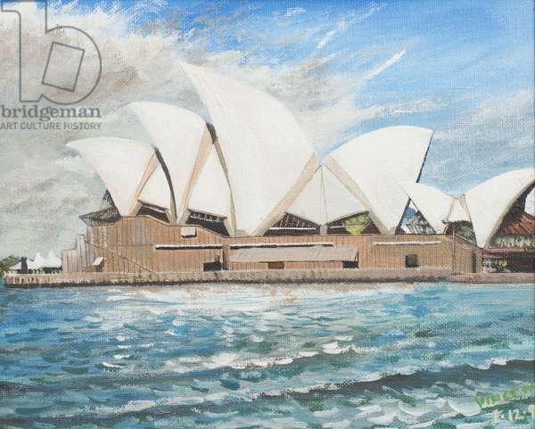 Sydney Opera House, 1998, (acrylic on canvas board)