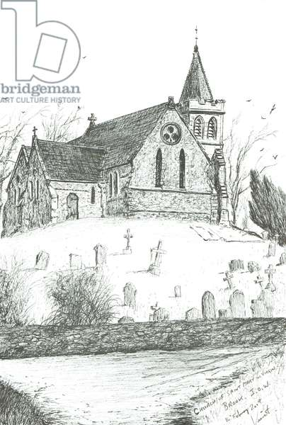 Church of St Mary the Virgin,Brook,I.O.W., 2009, (ink on paper)