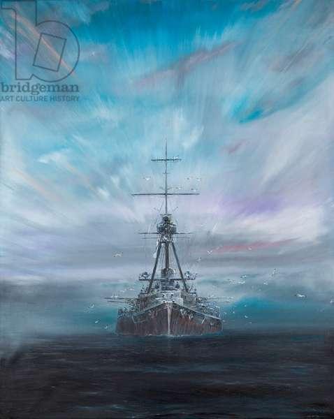 Iron Dog -  SMS Derfflinger 1917, 2016, (oil on canvas)