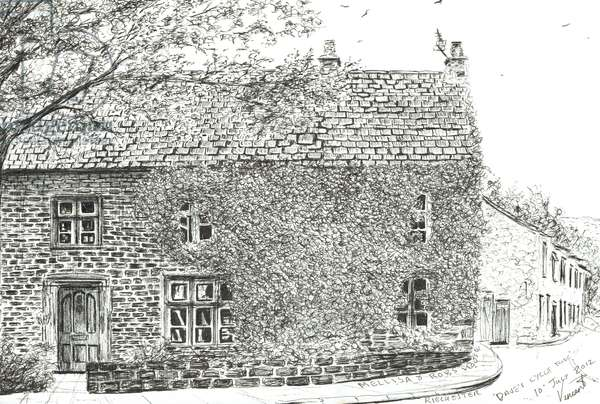House at Ribchester, 2012, (ink on paper)