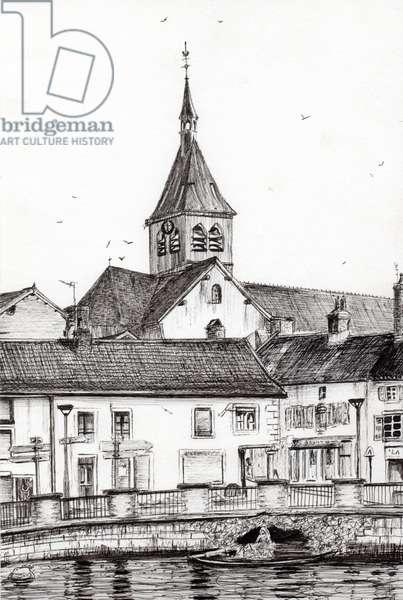 Laignes France, 2007, (ink on paper)