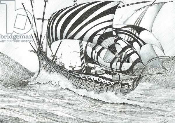 Storm Creators Ionian Sea, 2017 (ink and pencil on paper)