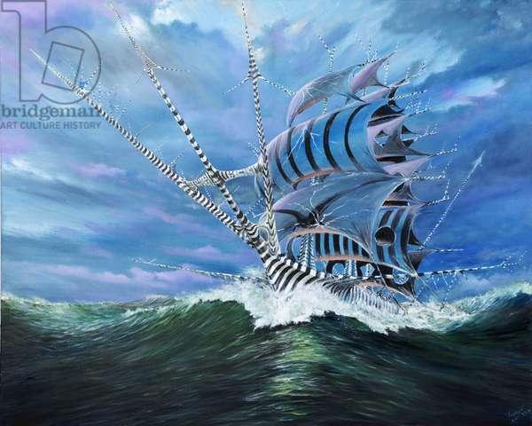 Storm creators Bali Sea, 2018, (oil on canvas)