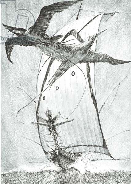 Storm Creators Wandel Sea, 2017, (ink and pencil on Paper)