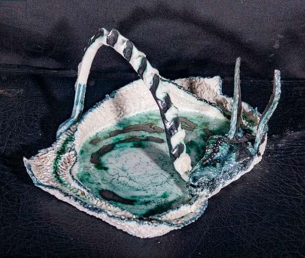 Dragon Dish, 1998, (glazed porcelain)