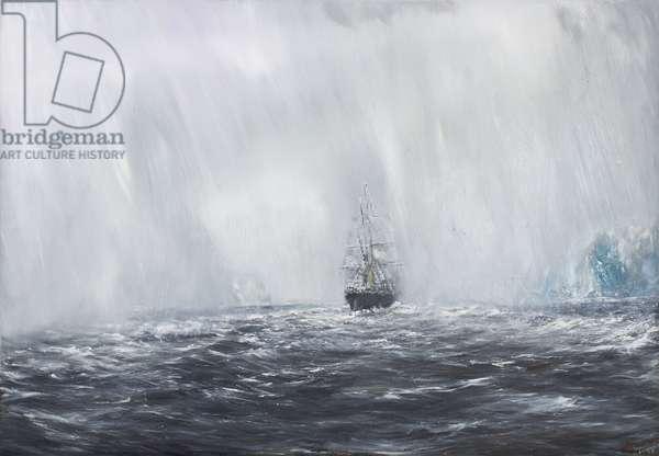 65 Degrees, 8 Minutes South.Terra Nova 9th Dec.1910. 2007, (oil on canvas)