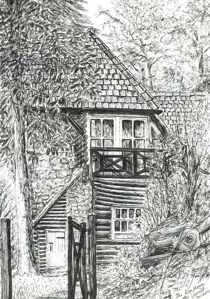 The Log House, 2019, (ink on paper)