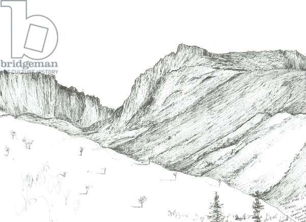 Scafell, 2005, (ink on paper)