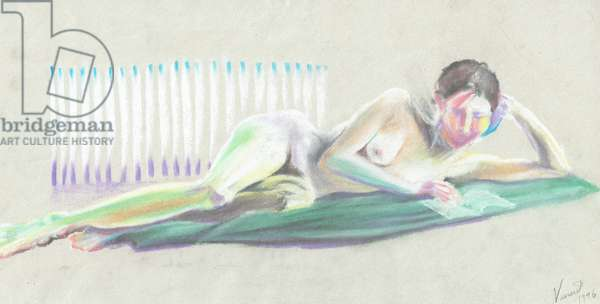 Model, 1996, (pastels on paper)