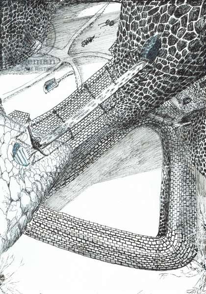 page31, The Castle in the Forest of Findhorn, 2006, (ink on paper)