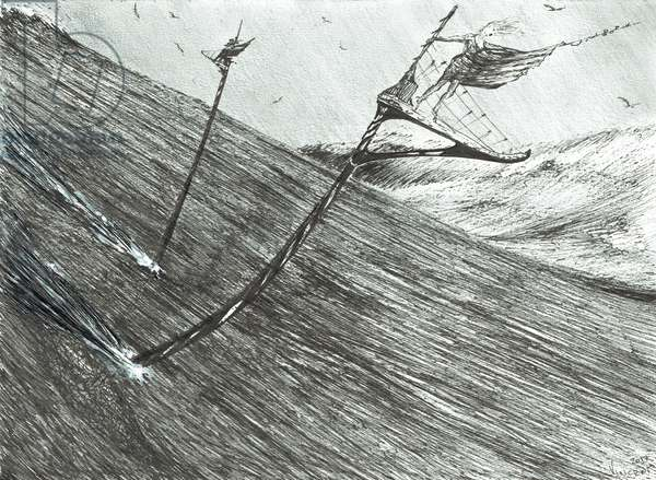 Storm Creators Black Sea, 2017, (ink and pencil on Paper)