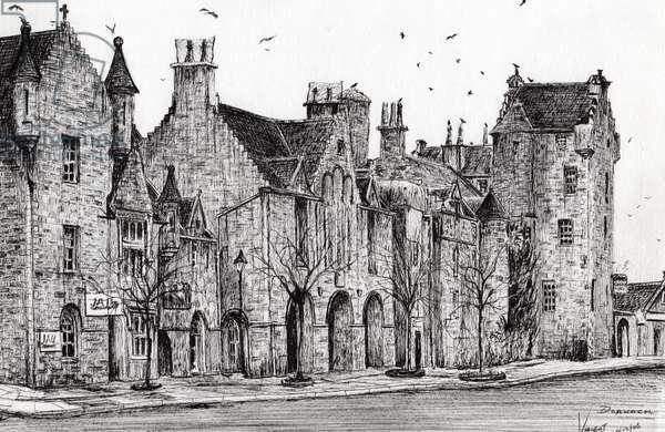 Dornoch Scotland, 2006, (ink on paper)