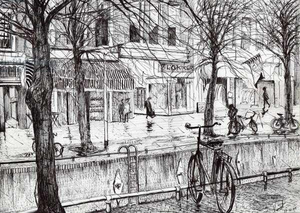Harlingen Holland, 2005, (ink on paper)