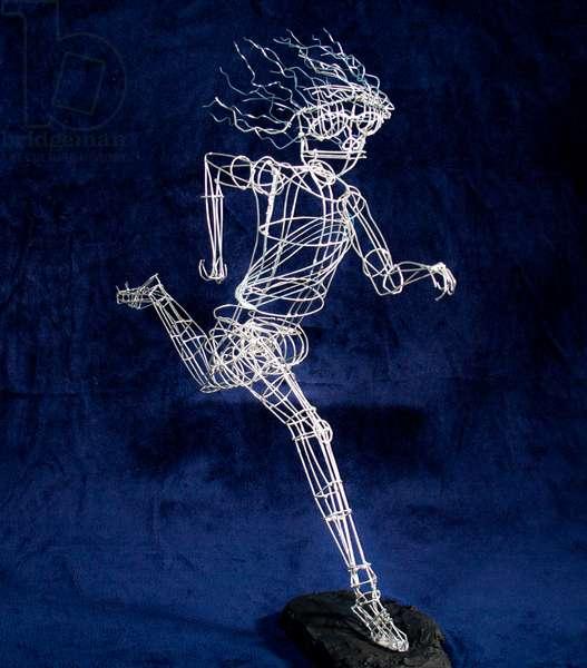 Runner Las Ramblas, 1998 (soldered wire, plaster base)
