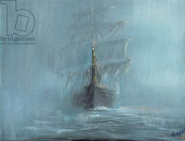 Mary Celeste December 1872, 2016, (oil on canvas)