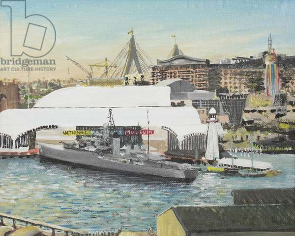 Sydney Maritime Museum, 1998, ( acrylic on canvas board)