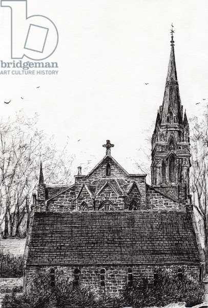 Glenmuick (Ballater) Church, 2007, (ink on paper)