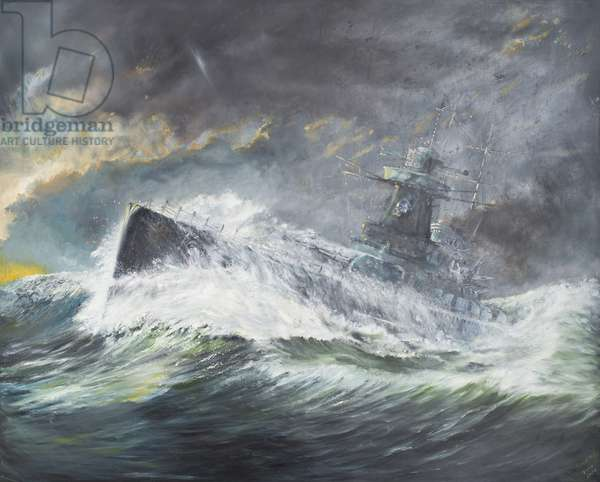 Graf Spee enters the Indian Ocean 3rd November 1939, 2006, (oil on canvas)