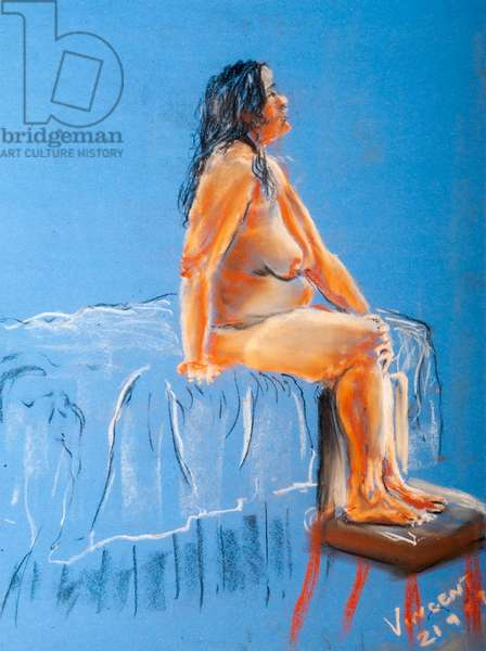 Daydream, 2009, (pastels on coloured paper)