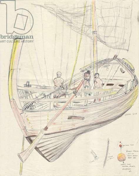 Greek ship; 1998, (pencils on paper)