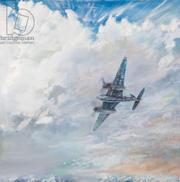 De Havilland Mosquito 1943, 2016, (oil on canvas)