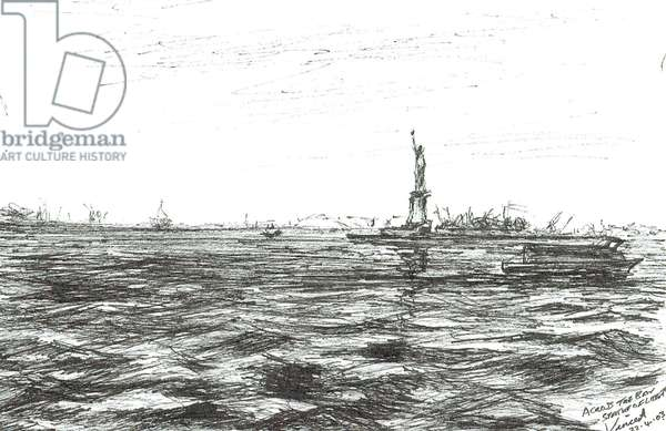 Statue of Liberty New York, 2003, (ink on paper)