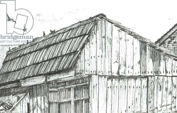 Pigeon loft, 2003, (ink on paper)