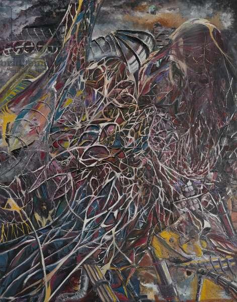 Cosmos Brainwaves, 2014, (oil on canvas)